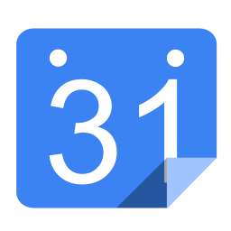 Utilities calendar blue icon