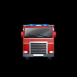 première icône rouge camion de pompier - ico,png,icns ...