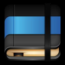 Icone De Moleskine Livre Bleu Ico Png Icns Icones