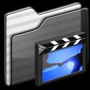 Movies Folder black icon