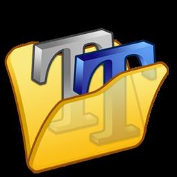 folder yellow font2 icon