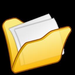 folder yellow mydocuments icon