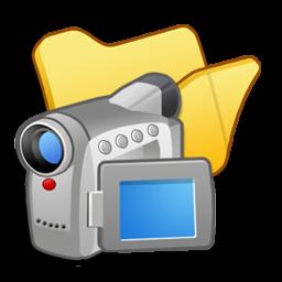 folder yellow videos icon