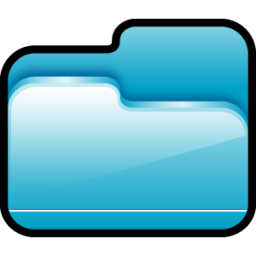 Folder Open Blue icon
