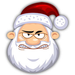 Angry SantaClaus icon